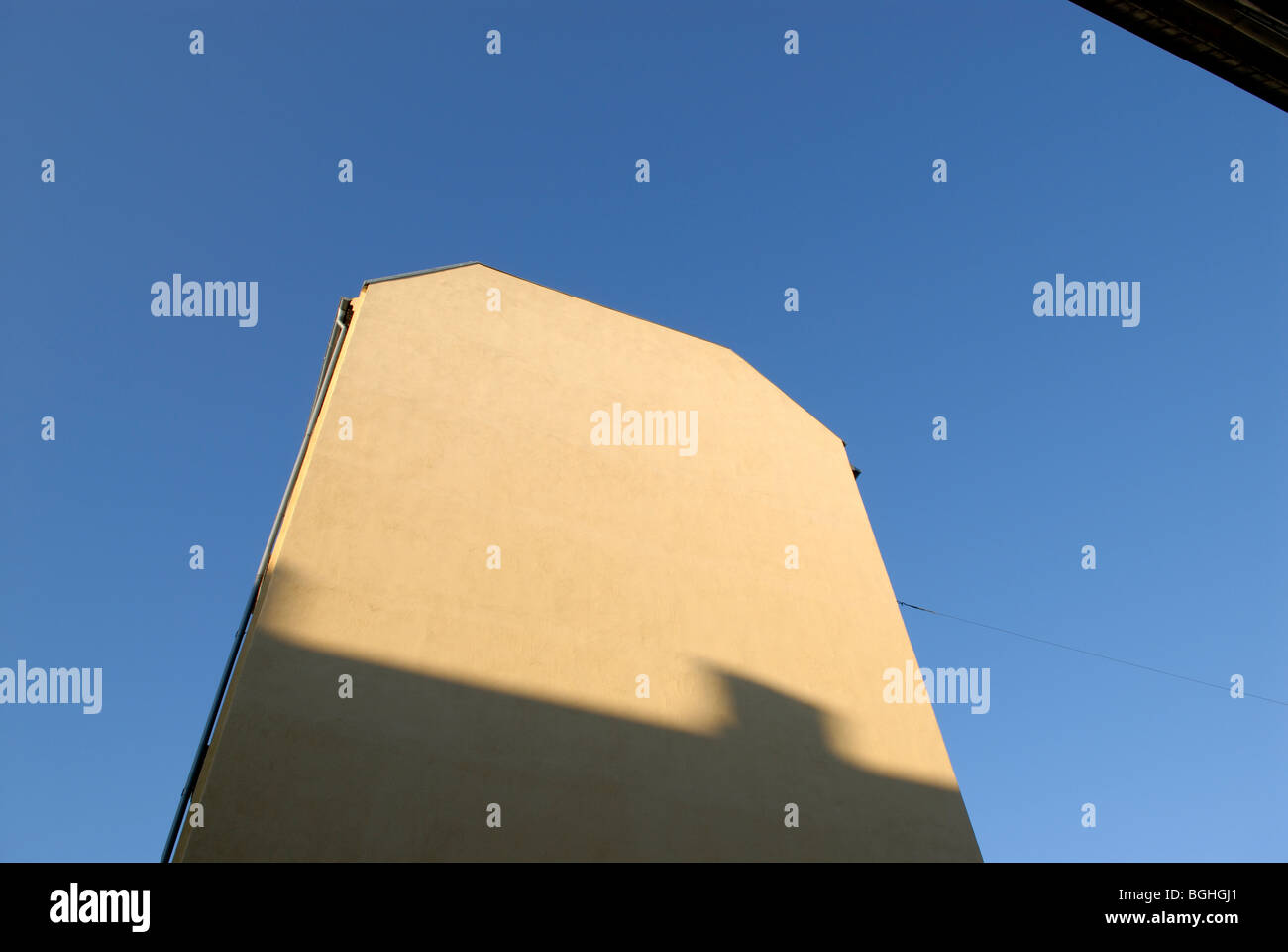 YELLOW GABLE - Stock Image