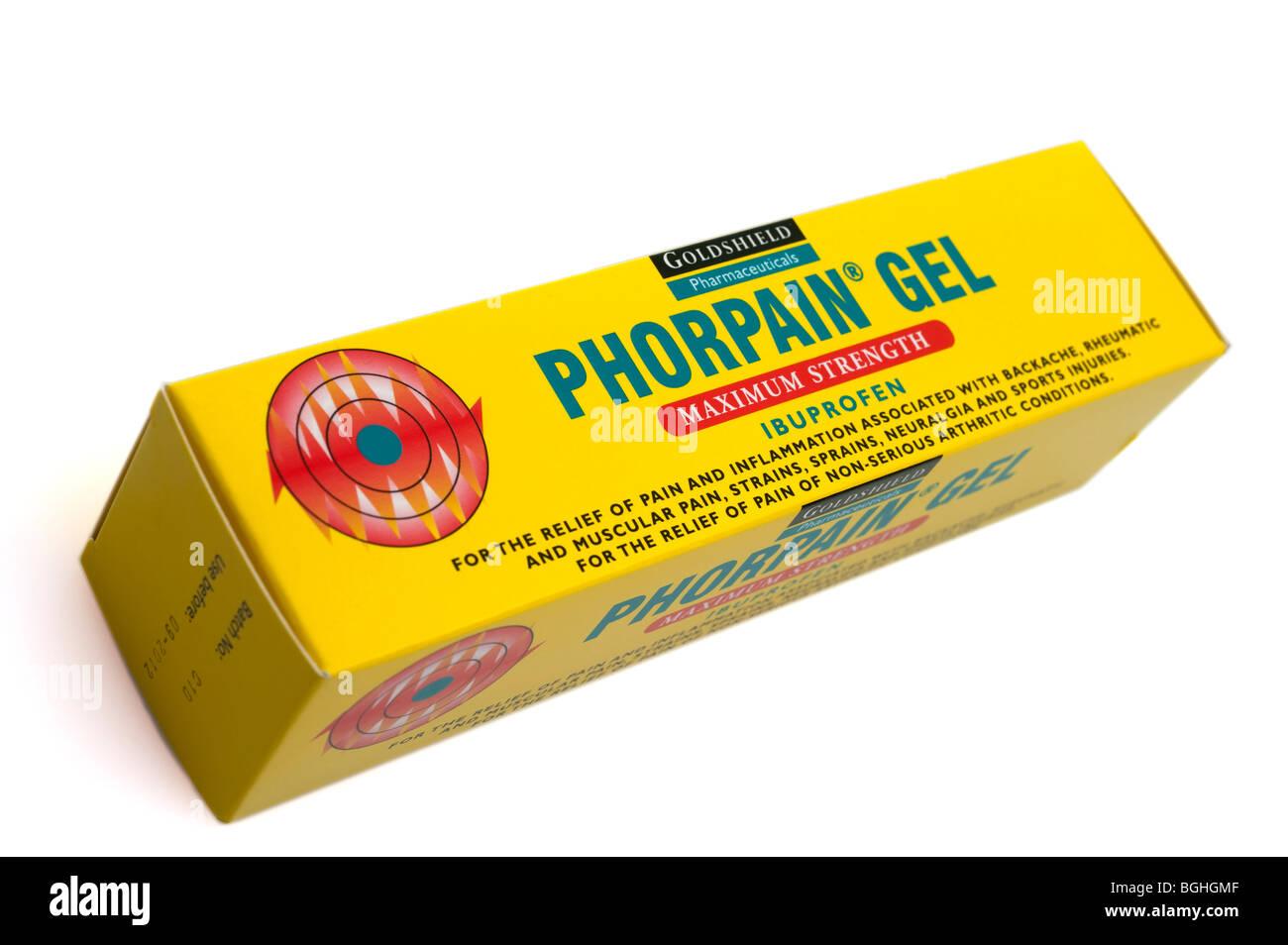 Phorpain maximum strength ibuprofen gel - Stock Image