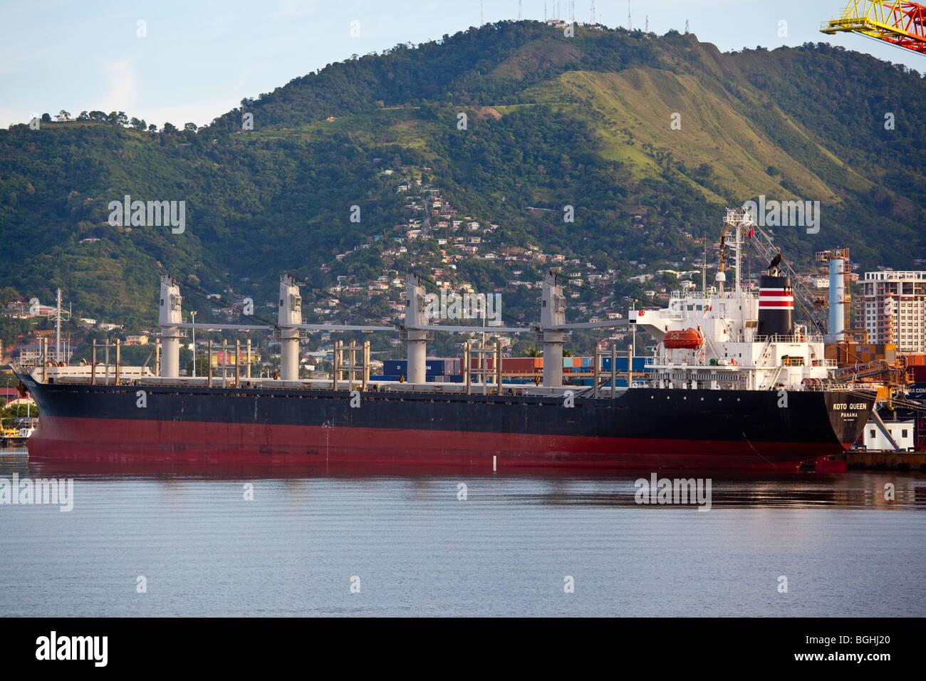 Oil Tanker in Port of Spain, Trinidad - Stock Image