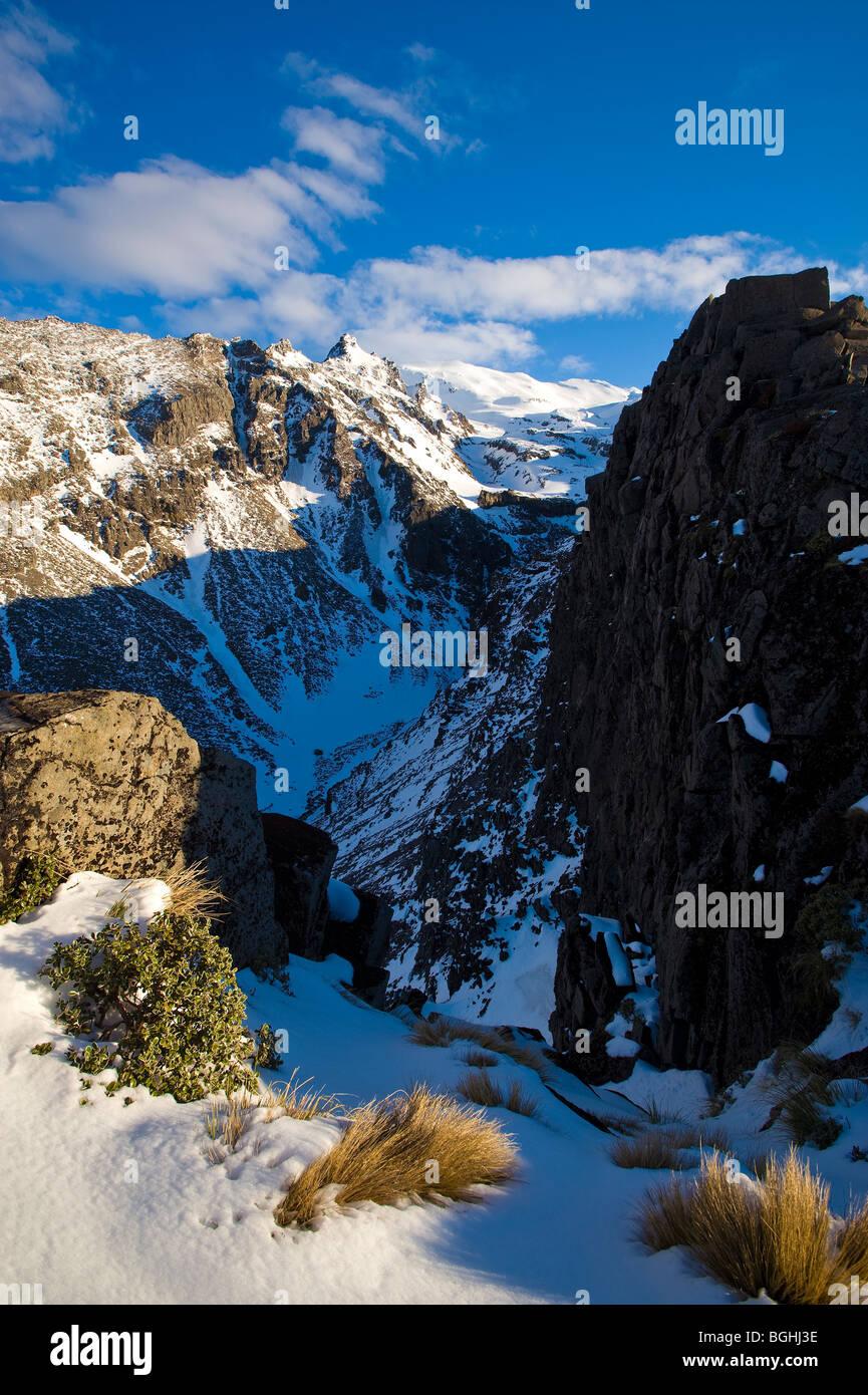 Mount Ruapehu, Tongariro National Park, North Island, New Zealand - Stock Image