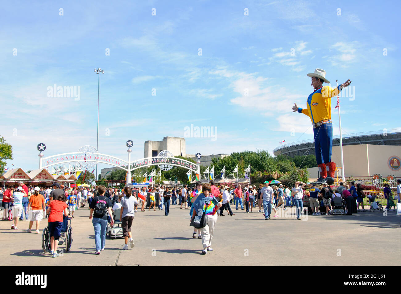 Texas State Fair, Dallas, Texas, USA - Stock Image