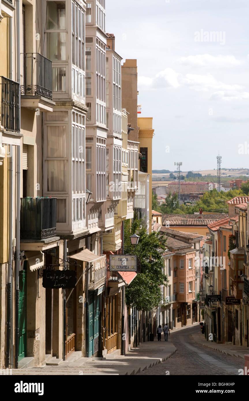 Town of Zamora in Castile Leon, Spain - Stock Image