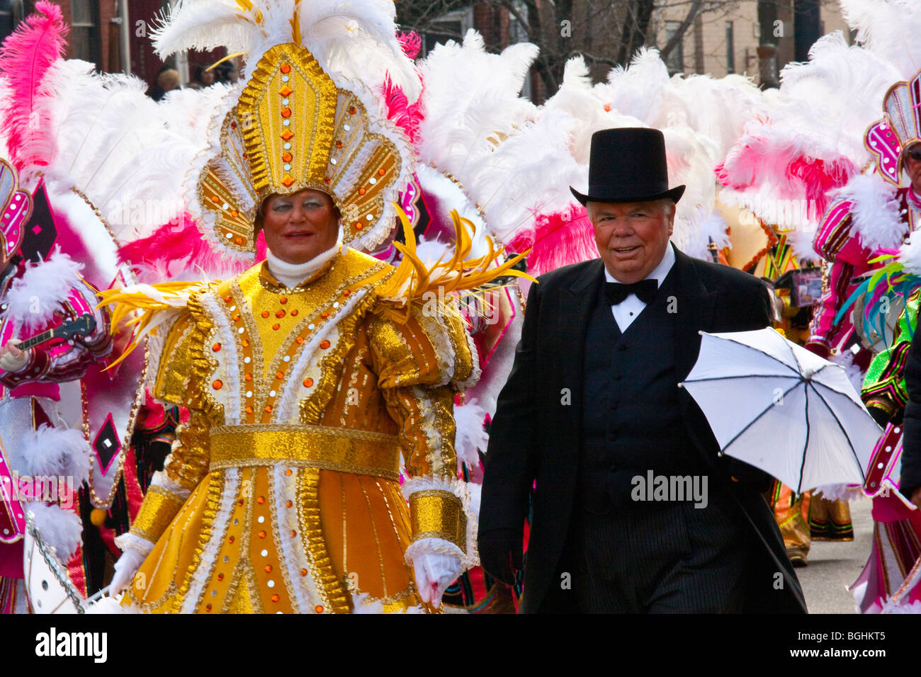 2010 Mummers Parade in Philadelphia, Pennsylvania - Stock Image
