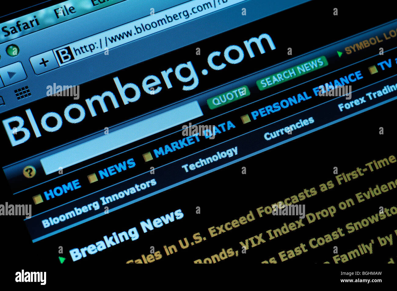 Bloomberg.com website - Stock Image
