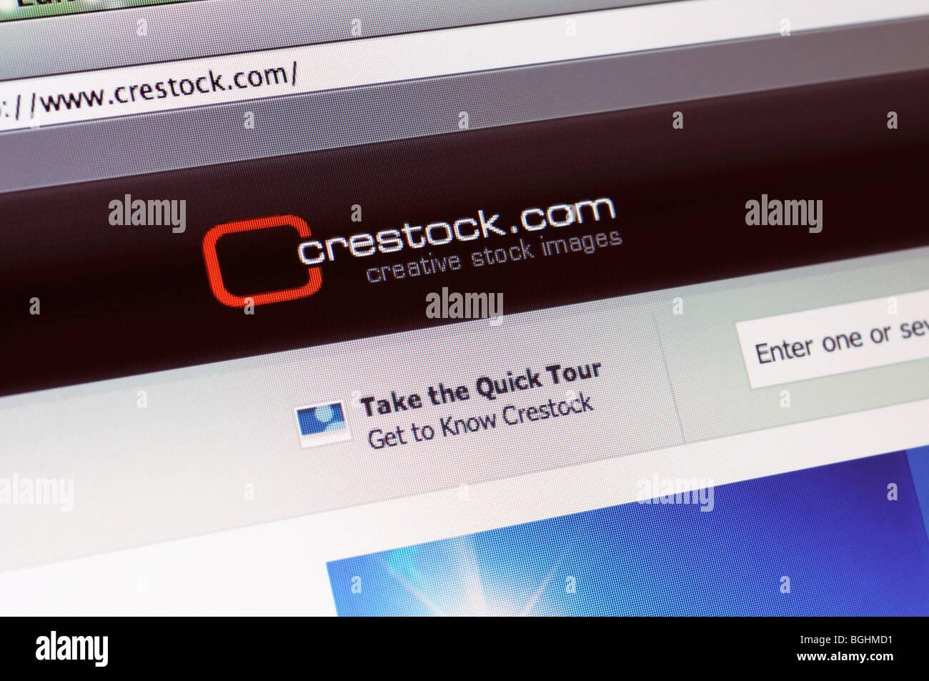 Crestock image agency website - Stock Image
