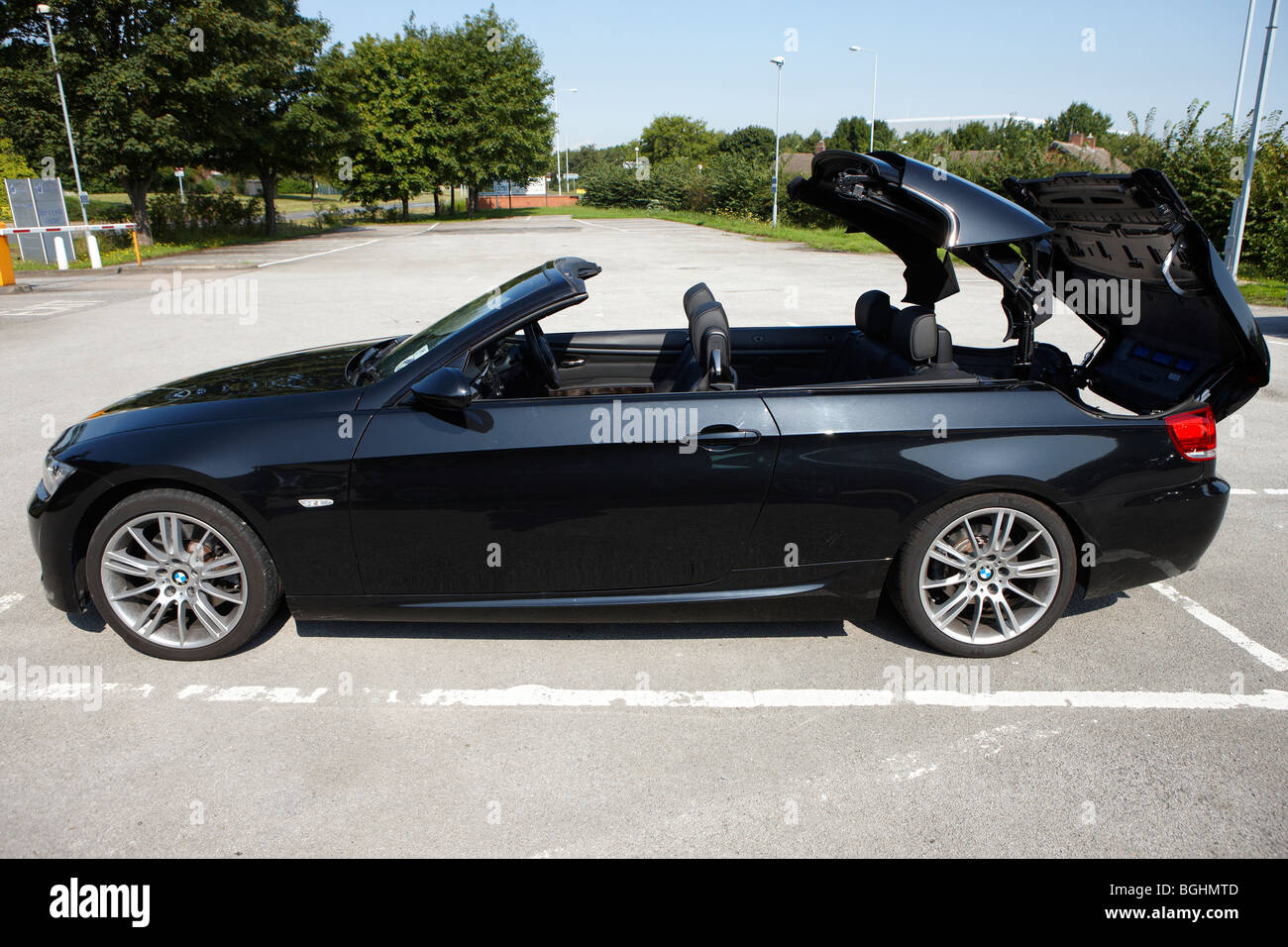 Black BMW Convertible - Stock Image