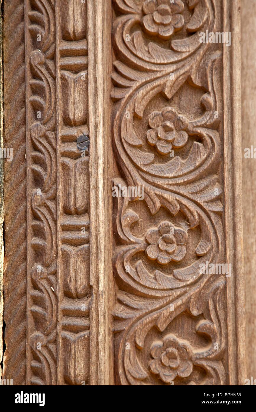 Carved door frame stock photos