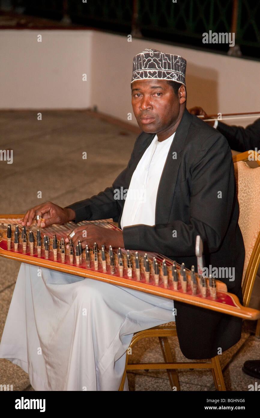 Zanzibar, Tanzania  Taarab Musicians  Culture Musical Club  Qanun