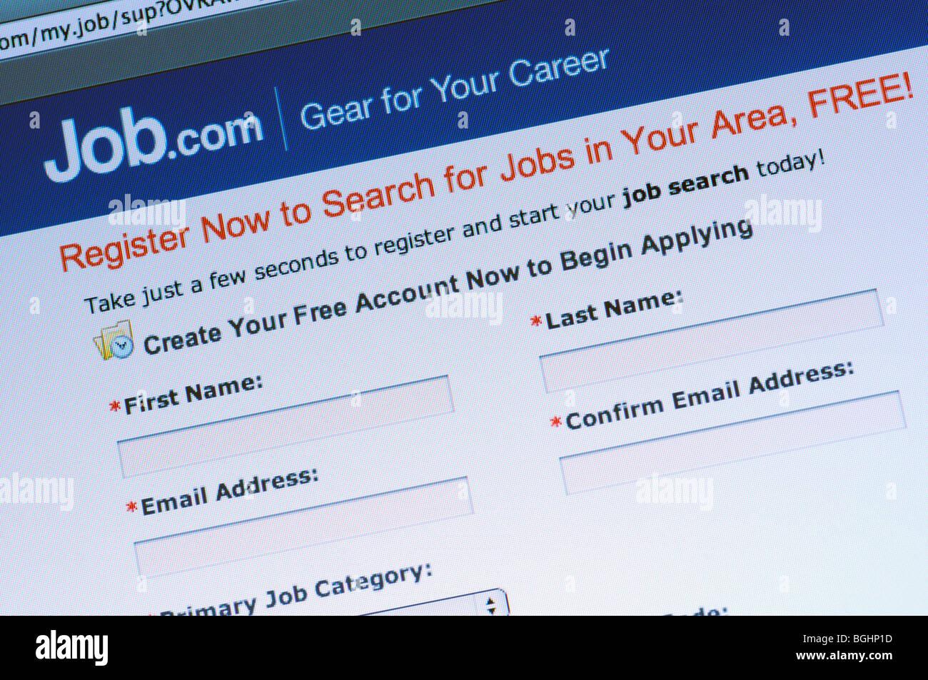 Job.com website - Stock Image