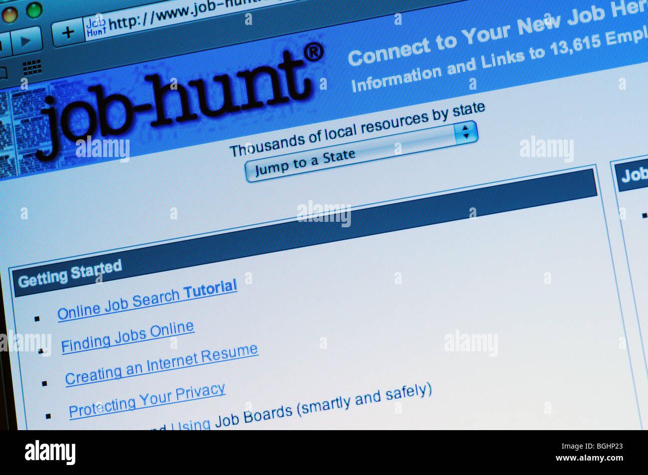 Job Hunt website - Stock Image