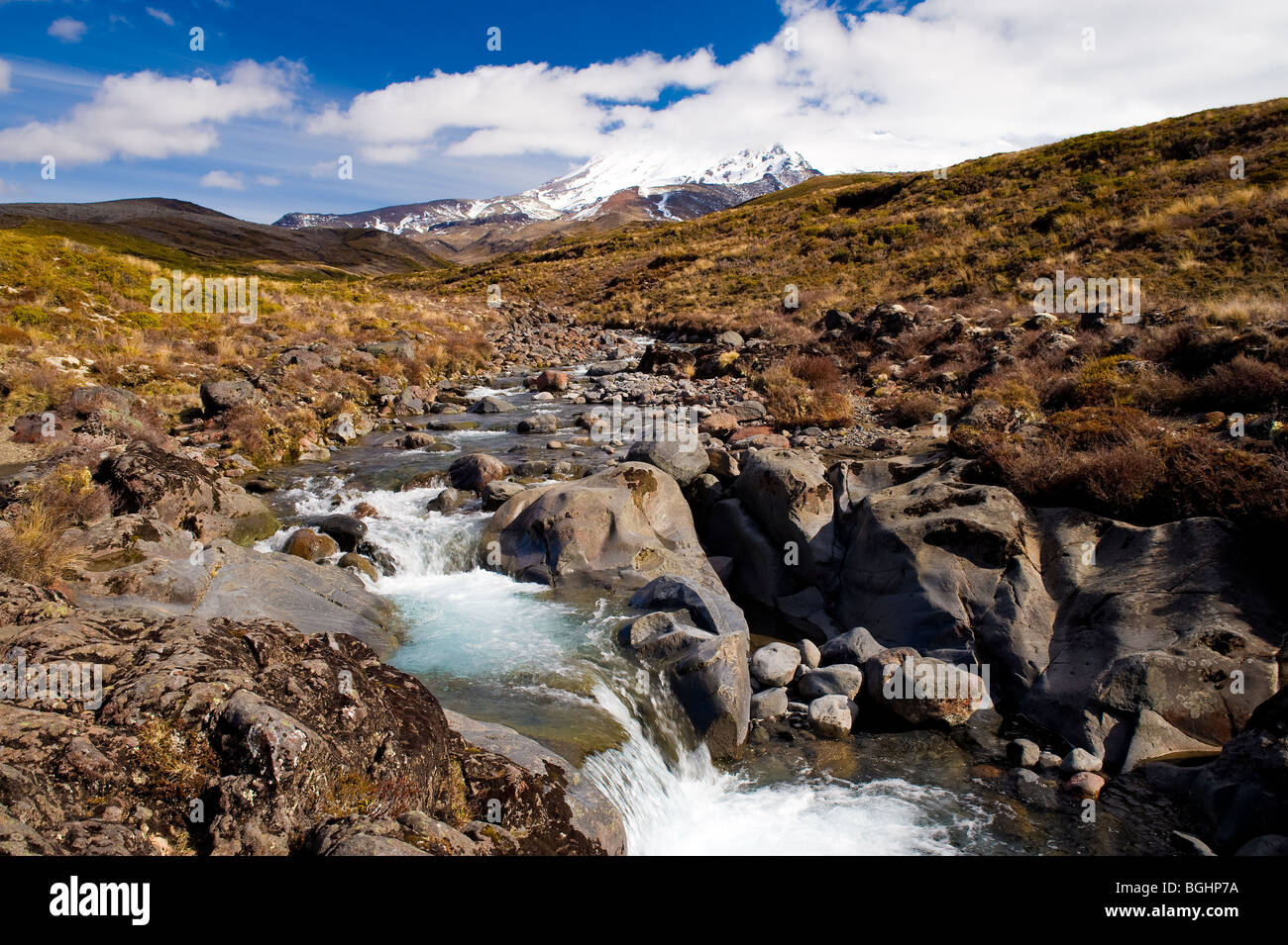 Mount Ruapehu, Tongariro National Park, North Island, New Zealand - Stock Image