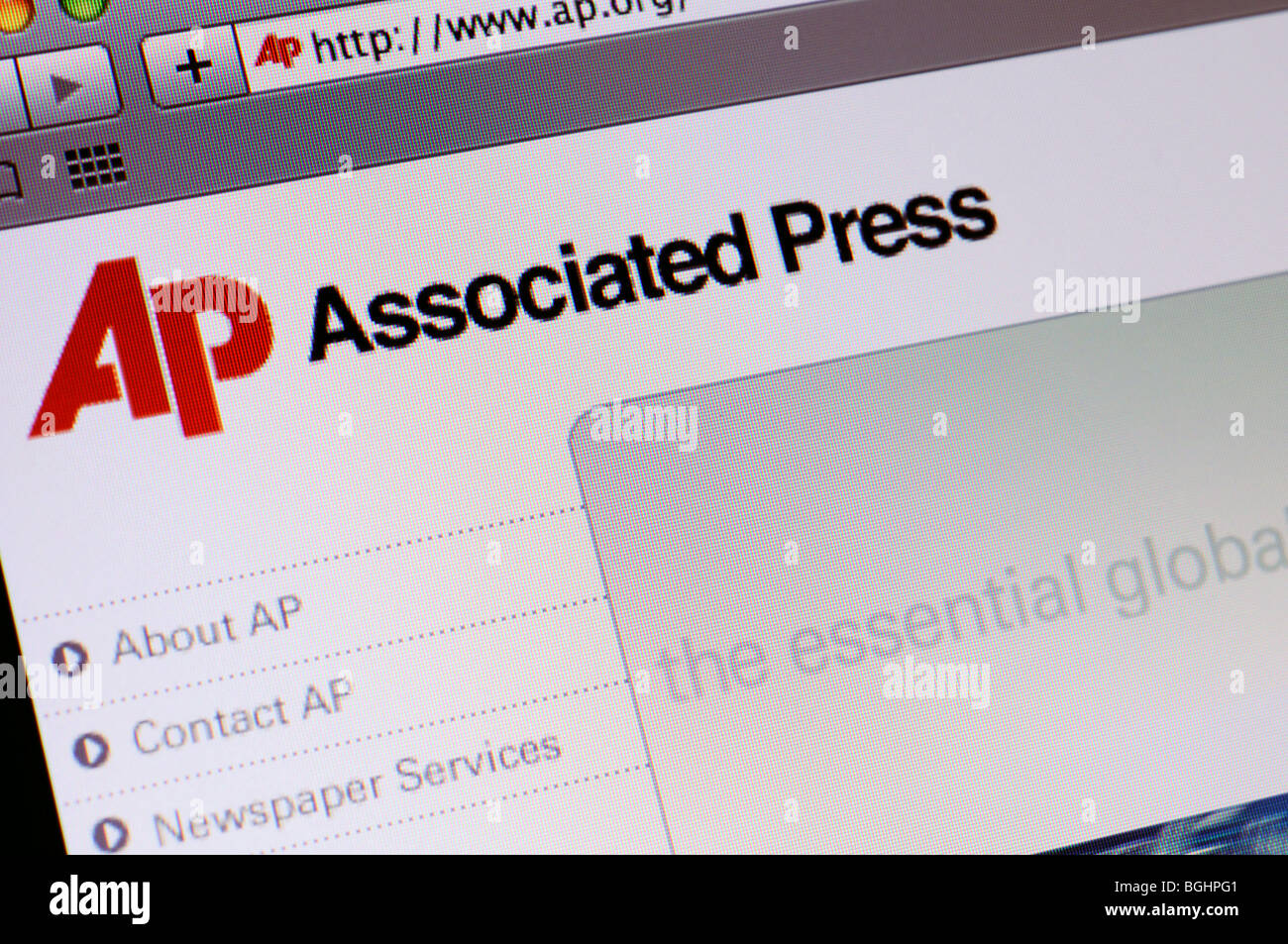 Associated Press website - Stock Image
