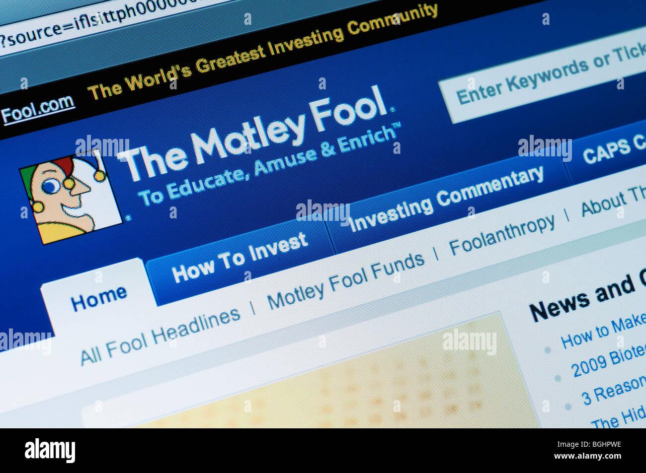 The Money Fool website - Stock Image