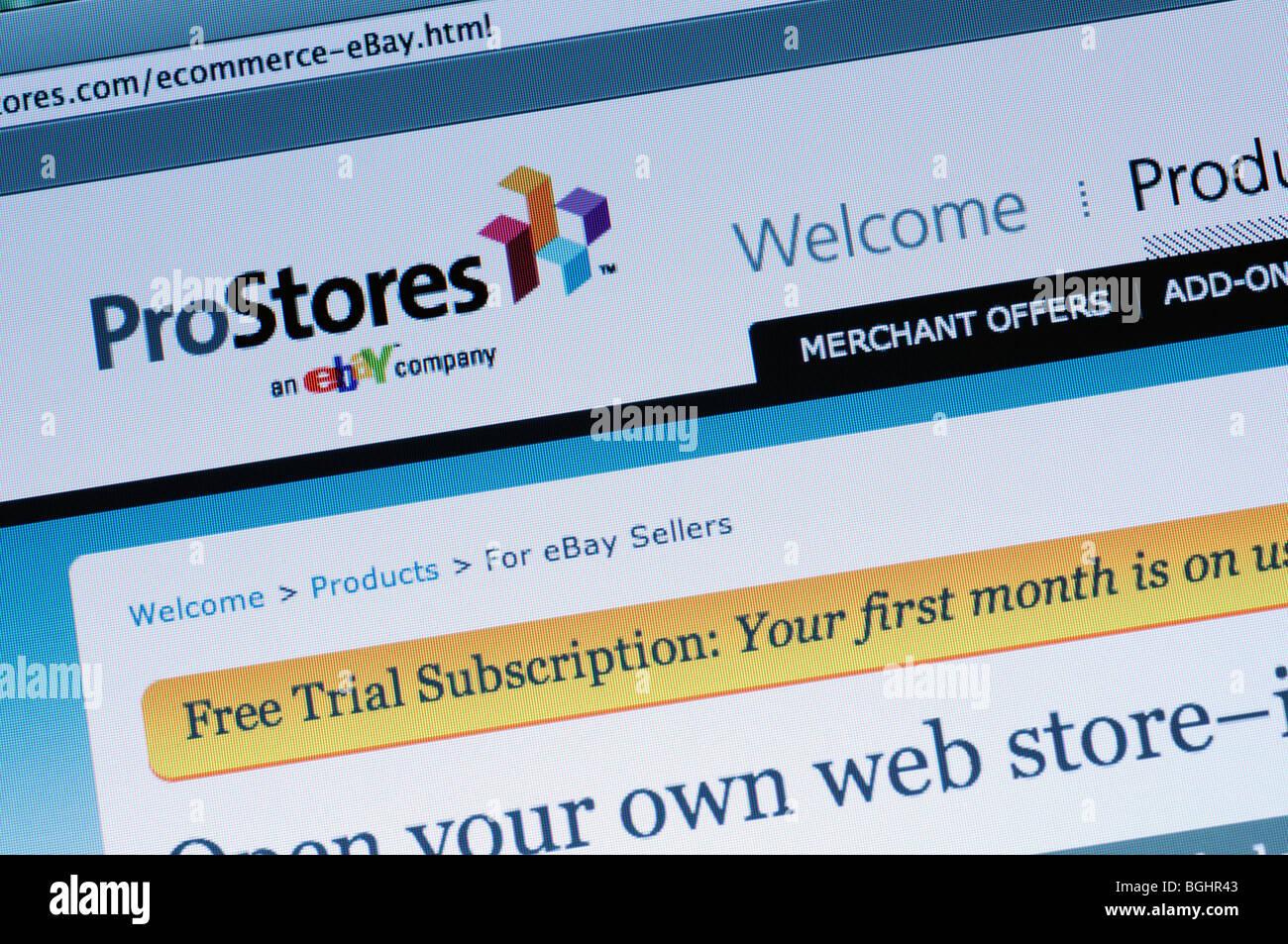 ProStores website - Stock Image