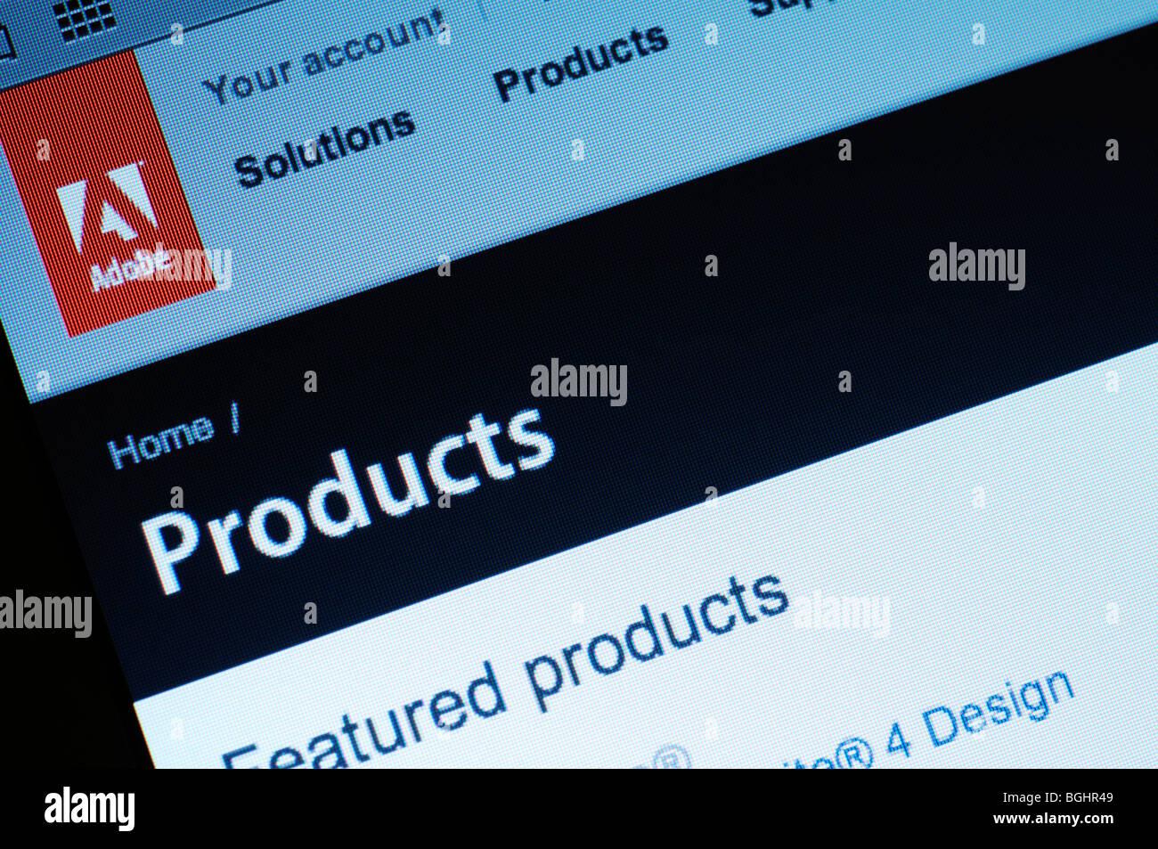 Adobe website - Stock Image