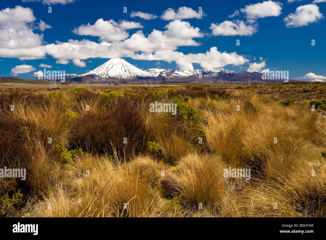 Tongariro National Park, North Island, New Zealand - Stock Image