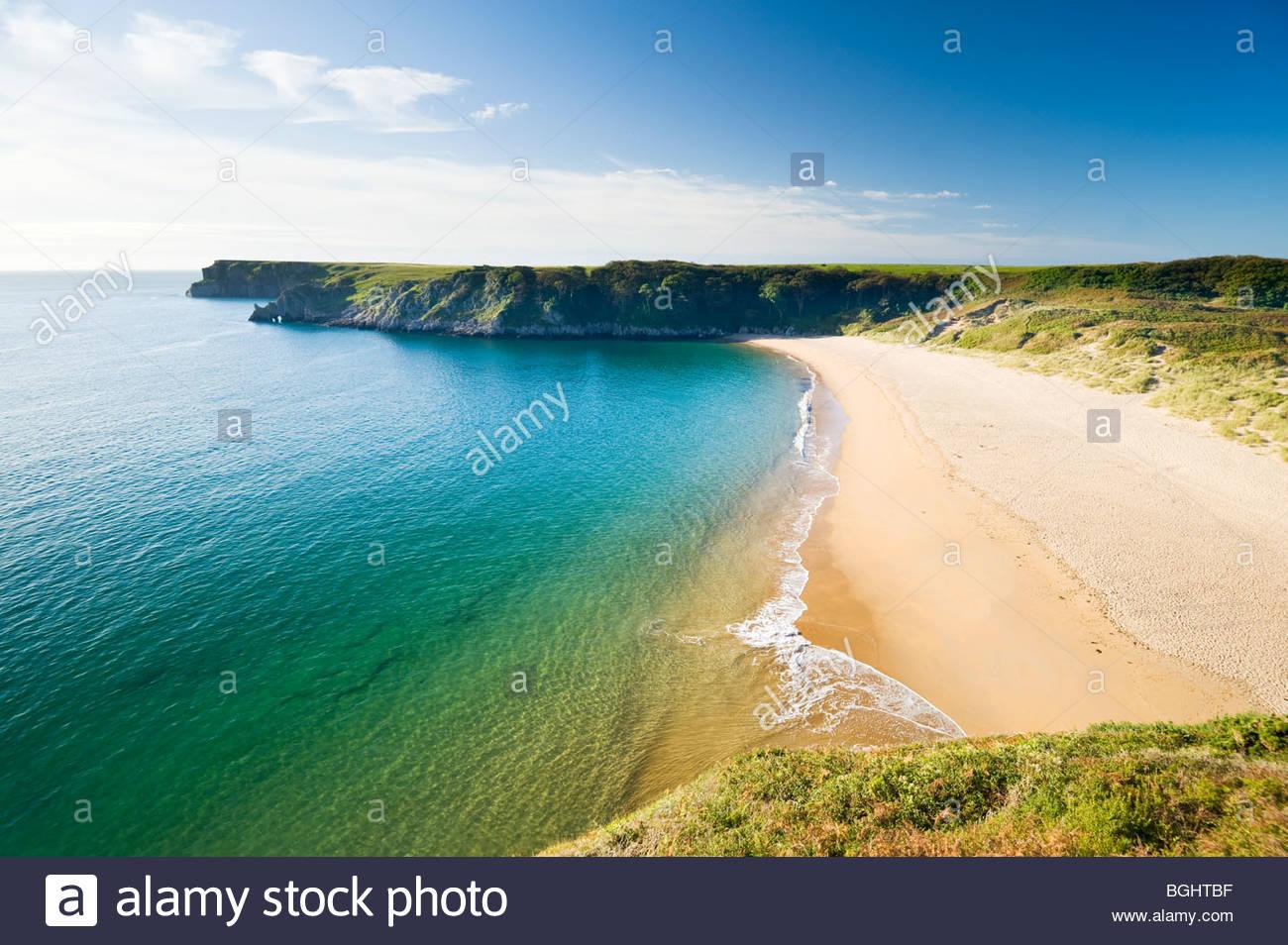 Barafundle Bay, Pembrokeshire Coast National Park, South Wales, UK. - Stock Image