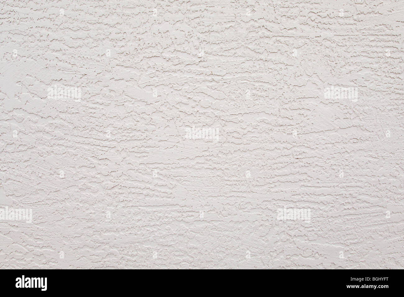 exterior white stucco wall rough background pattern - Stock Image