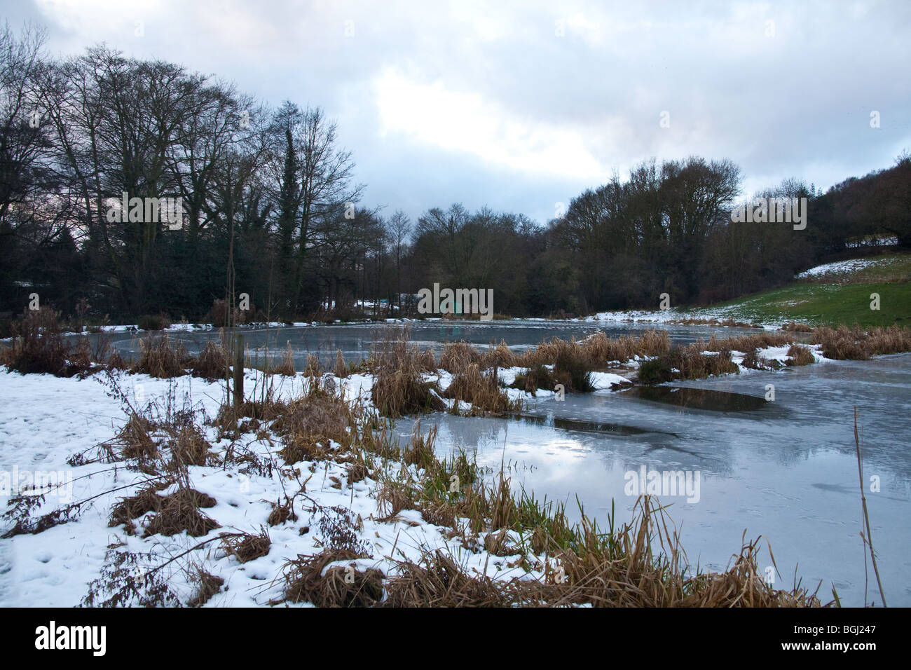 Barlow fishery trout lakes river Derbyshire England. Stock Photo