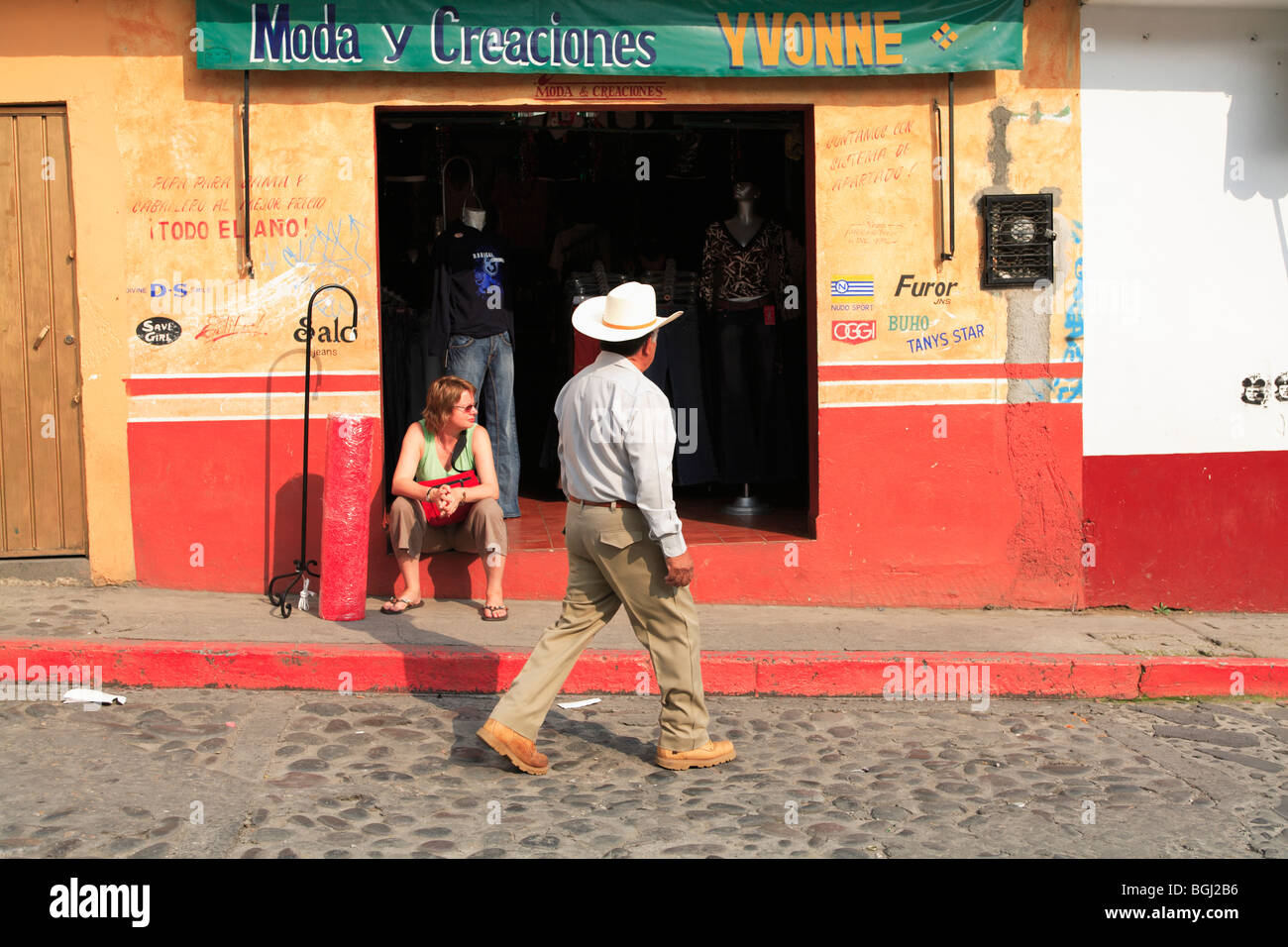 Tepoztlan, town near Mexico City where many city dwellers escape to for the weekend, Morelos, Mexico, North America - Stock Image