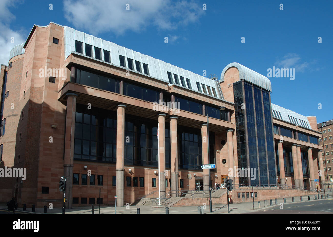 The Law Courts, The Quayside, Newcastle-upon-Tyne, Tyne and Wear, England, UK - Stock Image