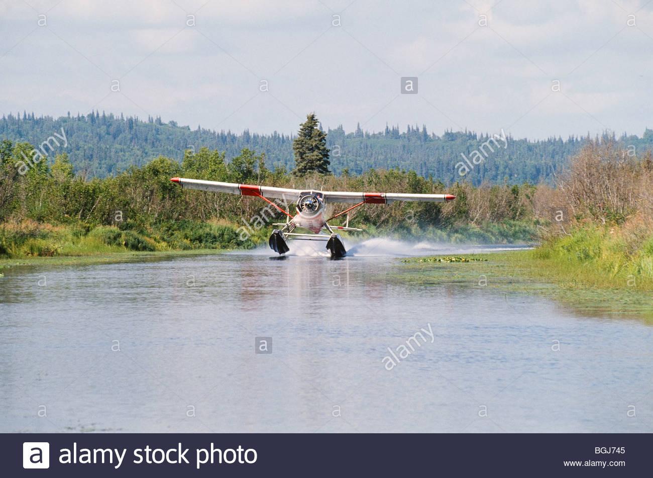 Alaska. Float Planes link rural communities in all of Alaska. - Stock Image