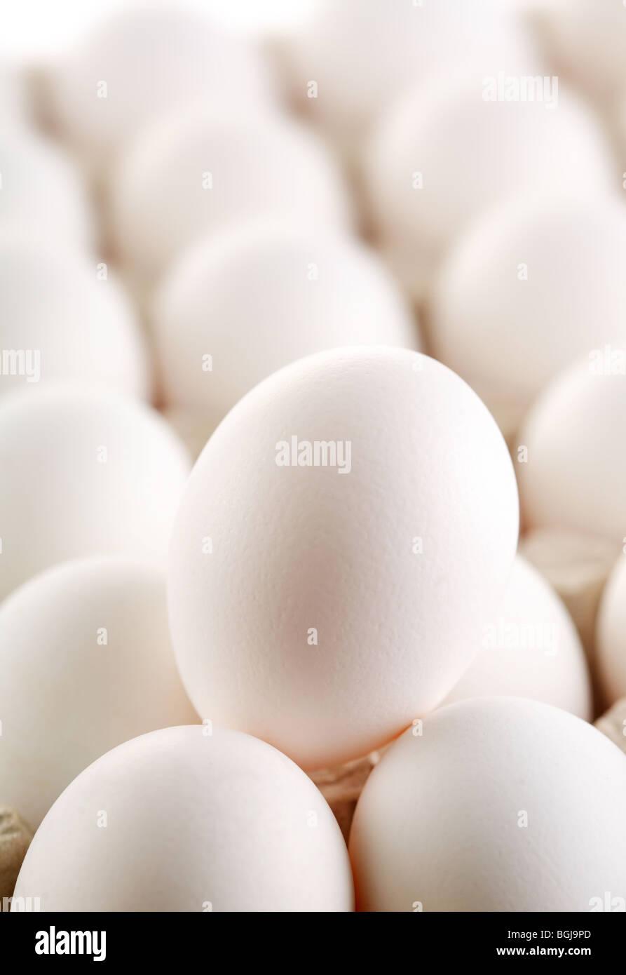 large white egg whites of eggs. - Stock Image