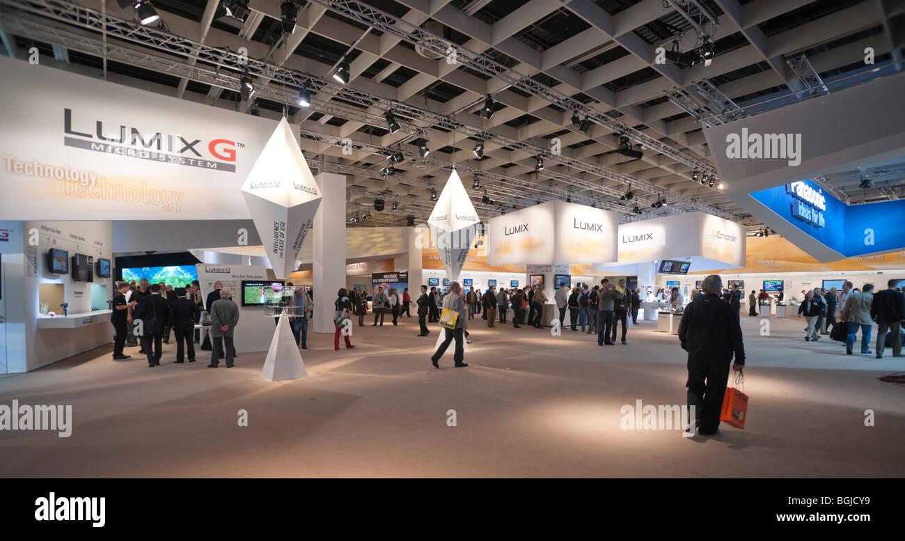 Photokina photo-imaging exhibition Cologne Germany (2008) - Panasonic Lumix fourthirds system stand - Stock Image