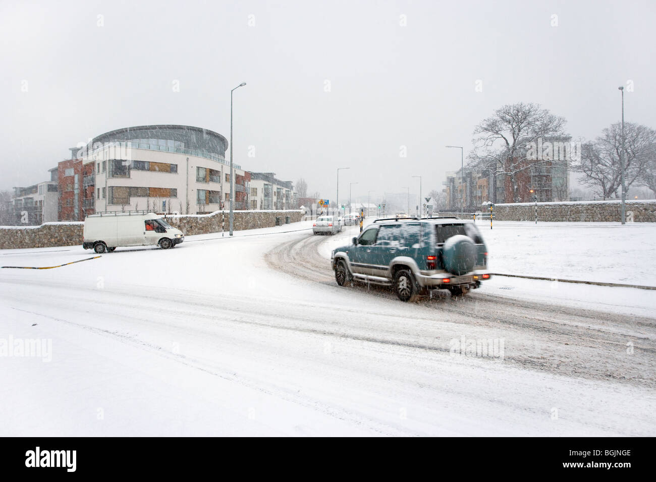 snow,winter,wet,cold,freeze,big freeze,ice,weather,stormy,snowing - Stock Image