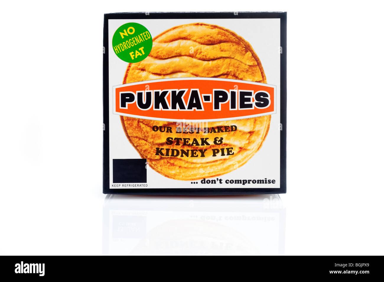 Pukka steak and kidney pie - Stock Image