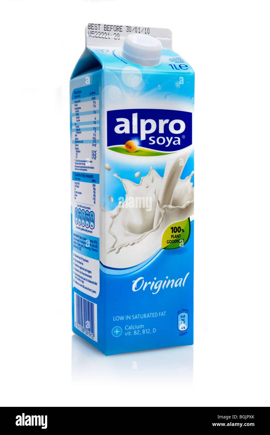 1 Litre Carton Of Alpro Soya Milk Stock Photo 27457995 Alamy