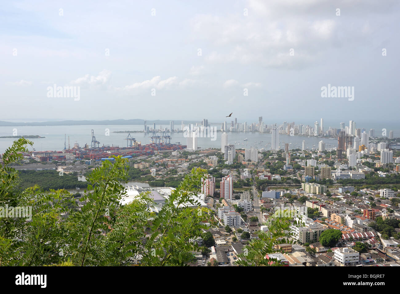 Views from Convento De La Popa,  the highest point in Cartagena, stretching all over the city. Colombia, South America Stock Photo