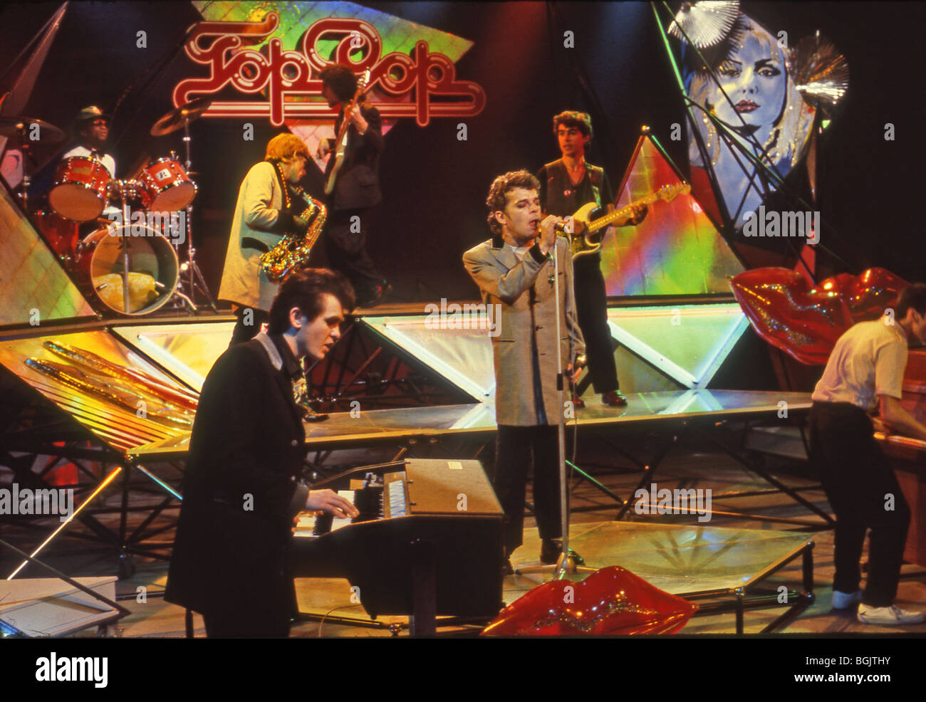 IAN DURY AND THE BLOCKHEADS on a German TV show about 1980 - Stock Image
