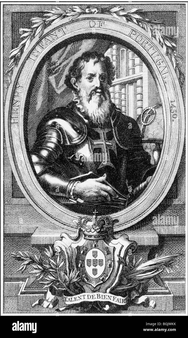 HENRY THE NAVIGATOR  - Portugese Prince (1394-1460) - Stock Image