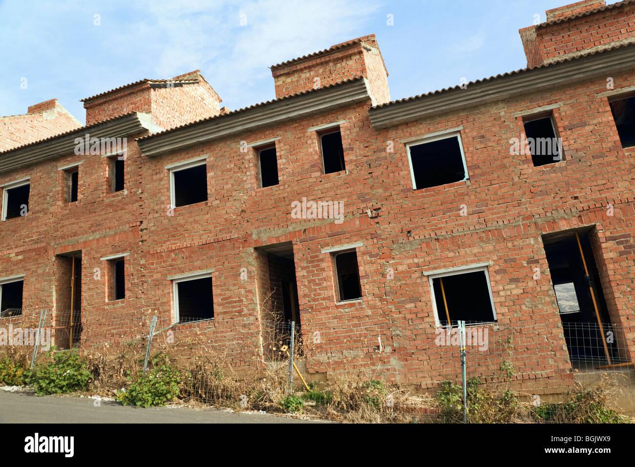Unfinished property in Villanueva de la Concepcion, Malaga Province, Spain. - Stock Image