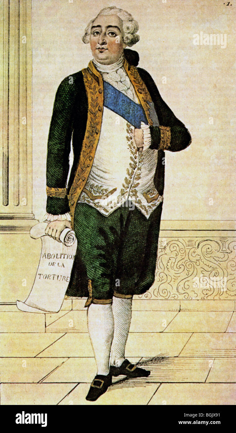 LOUIS XVI - King of France (1754-93) Stock Photo