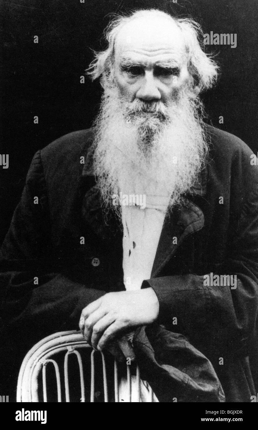 LEO TOLSTOY - Russian novelist  (!828-1910) - Stock Image