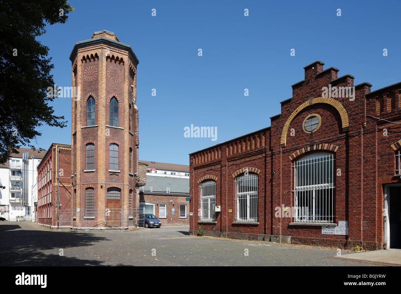 Aachen, Charlottenstrasse 14/15, Ehemalige Tuchfabrik Aachen, Wasserturm - Stock Image