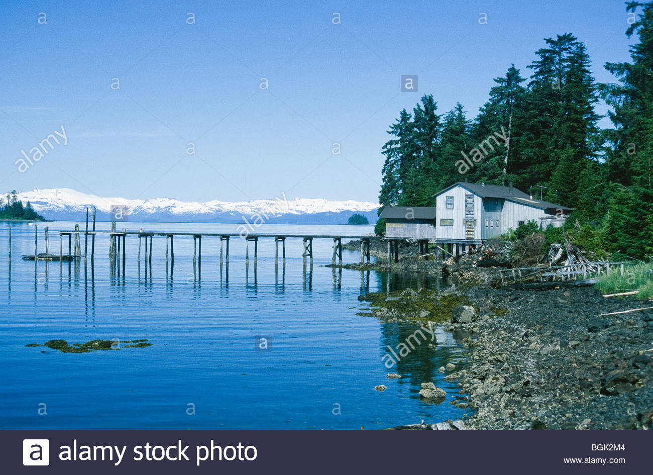 Alaska. Kake. Old crab cannery in Kake , Alaska. - Stock Image