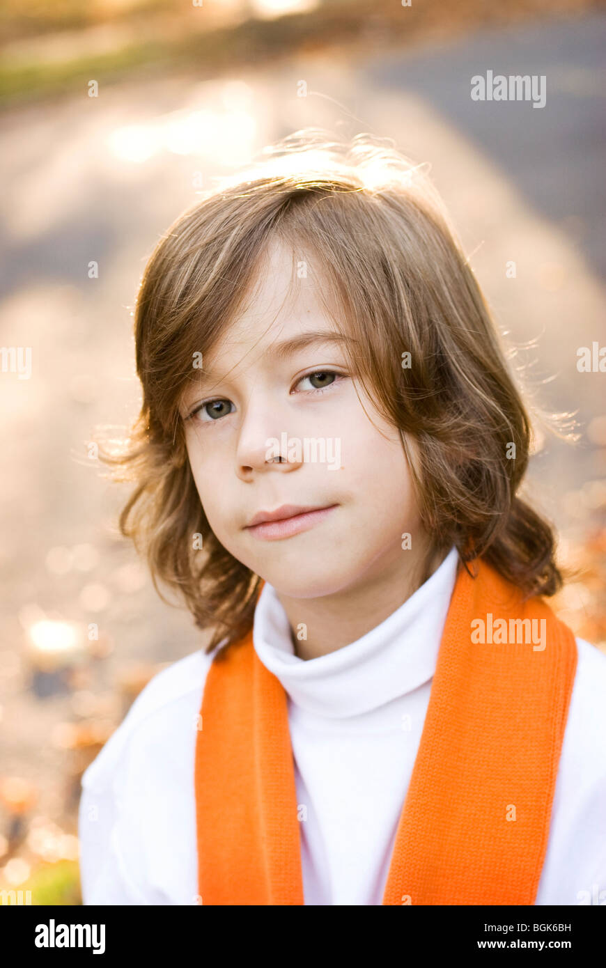 head and shoulders photo of boy - Stock Image