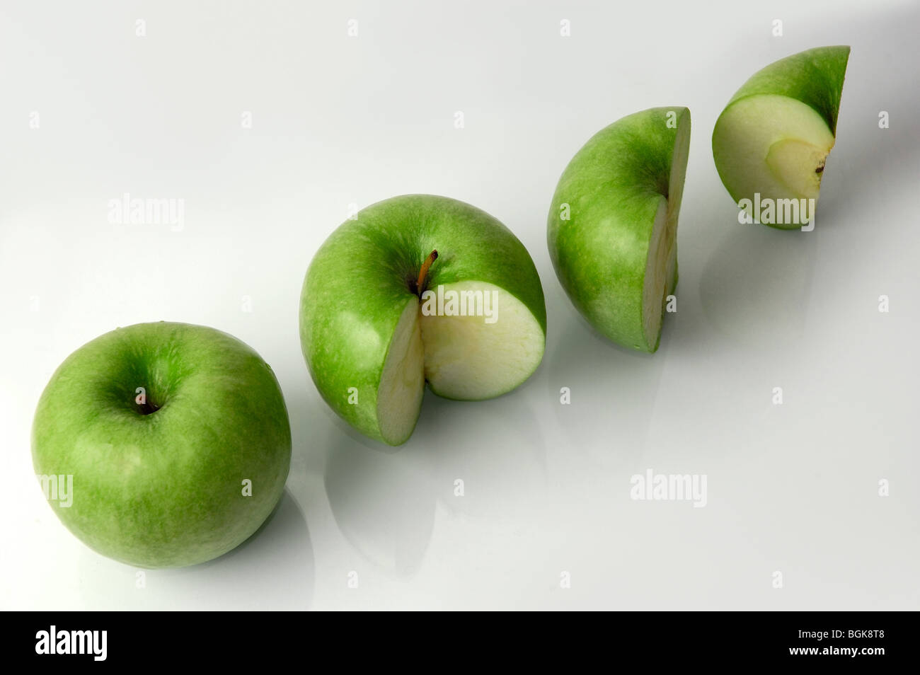 four green apples percentage concept profit or loss 100 75 50