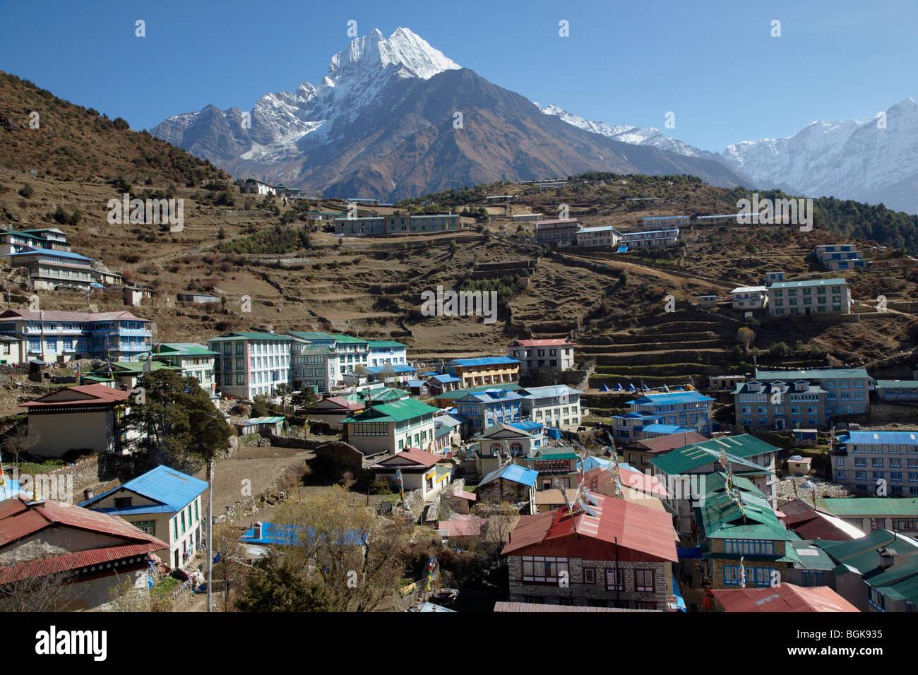 Namche Bazaar Everest Region Himalayas Nepal Asia - Stock Image