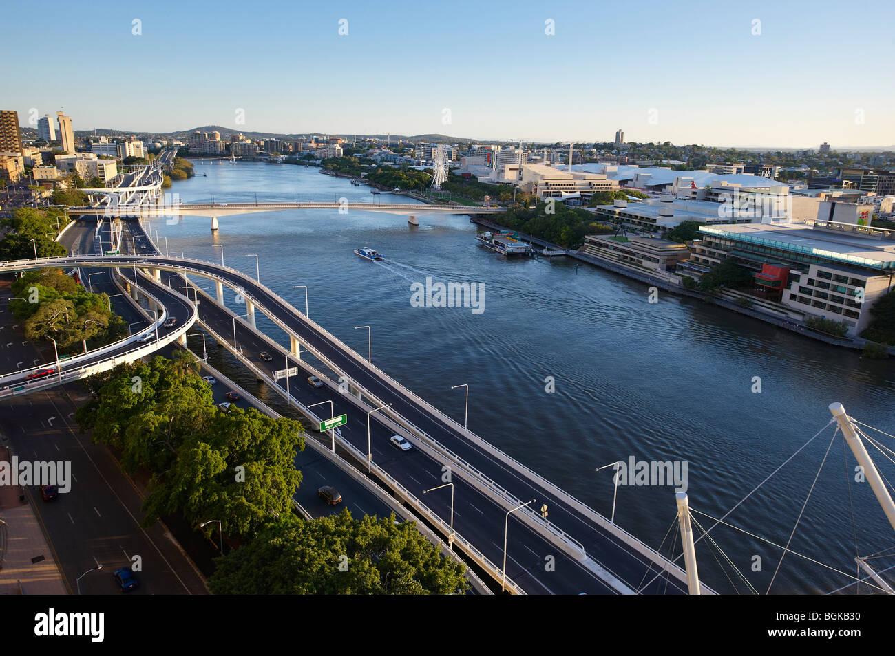 North Quay and South Brisbane Queensland Australia - Stock Image
