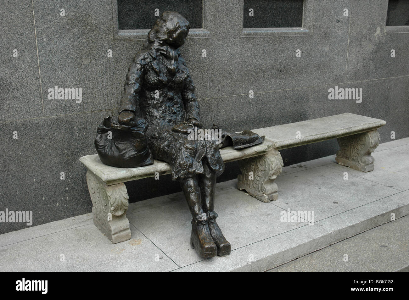 Eleanor Rigby Sculpture By Tommy Steele. A Famous Song Written By The  Beatles From Liverpool, England, UK