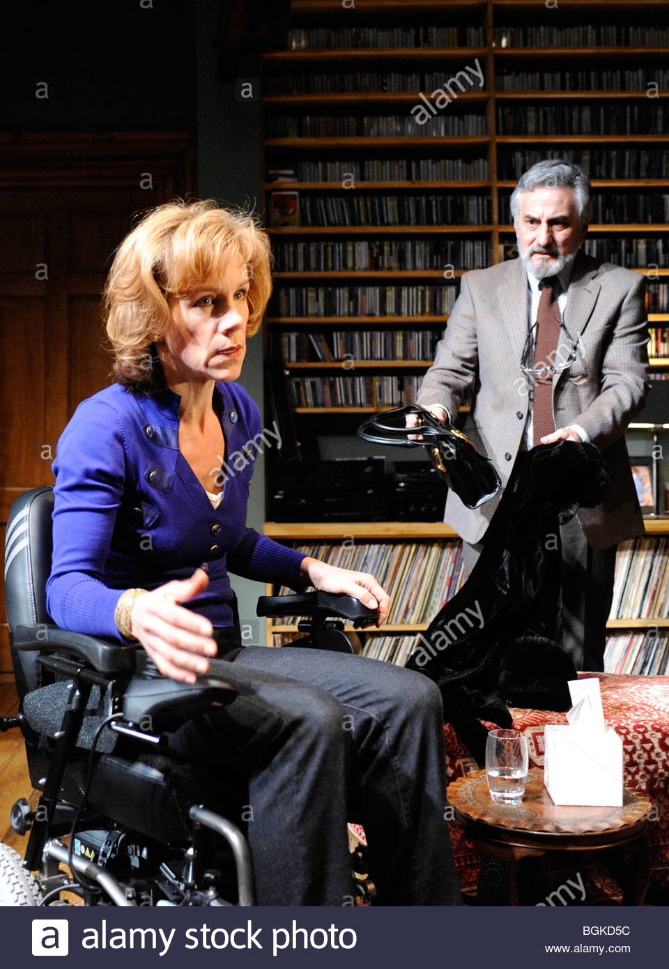 Duet For One by Tom Kempinski.Directed by Matthew Lloyd. With Juliet Stevenson as Stephanie Abrahams,Henry Goodman - Stock Image