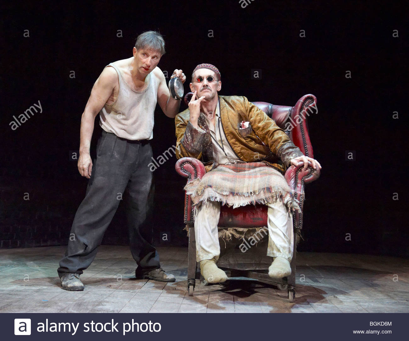 Endgame by Samuel Beckett, A Theatre De Complicite Production directed by Simon McBurney - Stock Image