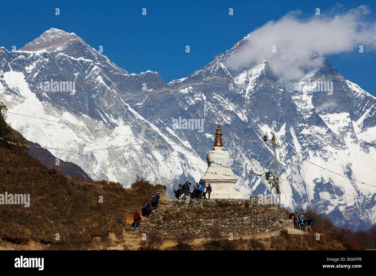 Mount  Everest Region Himalayas Nepal Asia - Stock Image