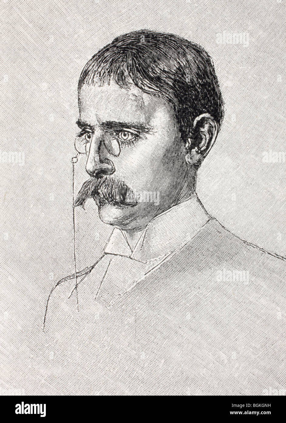 Karl Peters, 1856 to 1918. German.  A founder of German East Africa, today's Tanzania. - Stock Image