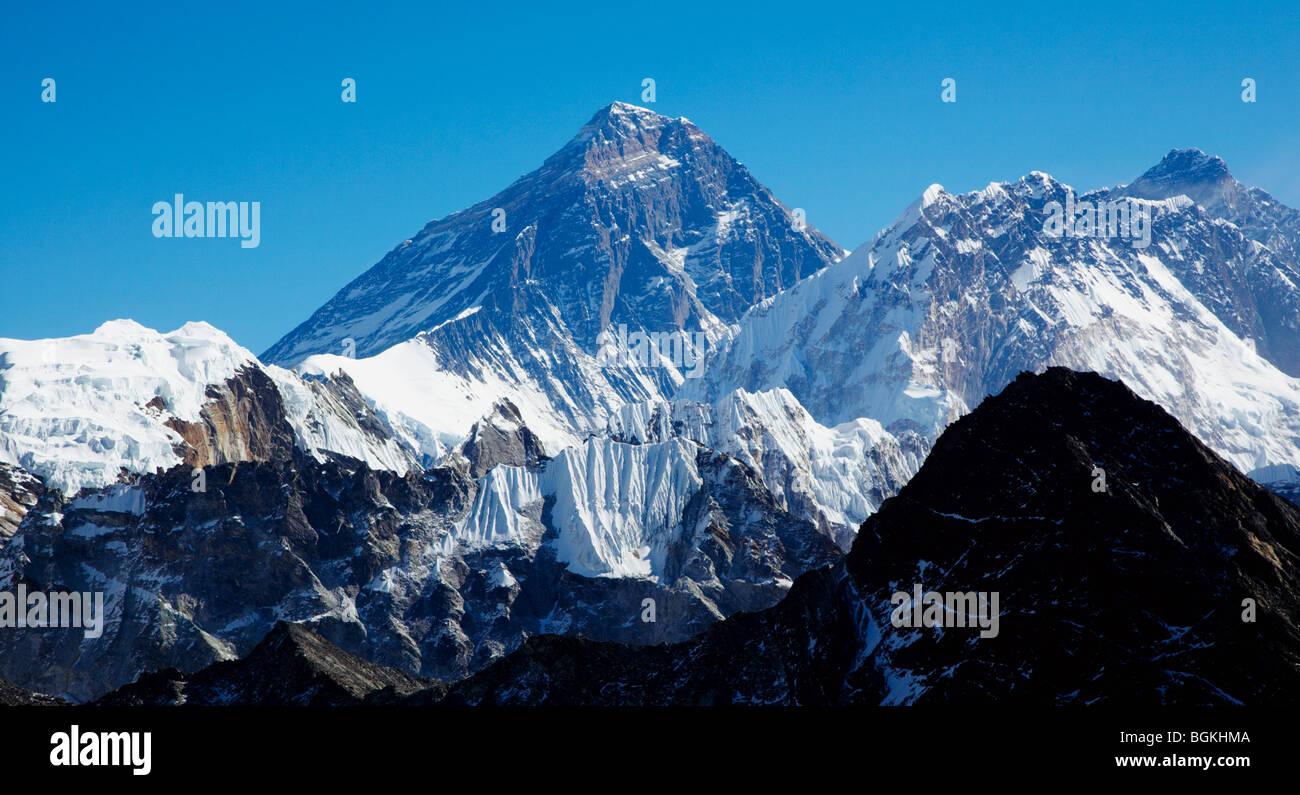 Mount  Everest Himalayas Nepal Asia - Stock Image