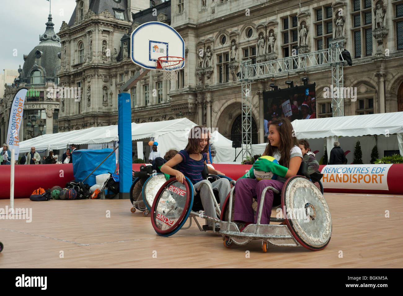 paris france french handicapped sports children playing stock photo 27477782 alamy. Black Bedroom Furniture Sets. Home Design Ideas